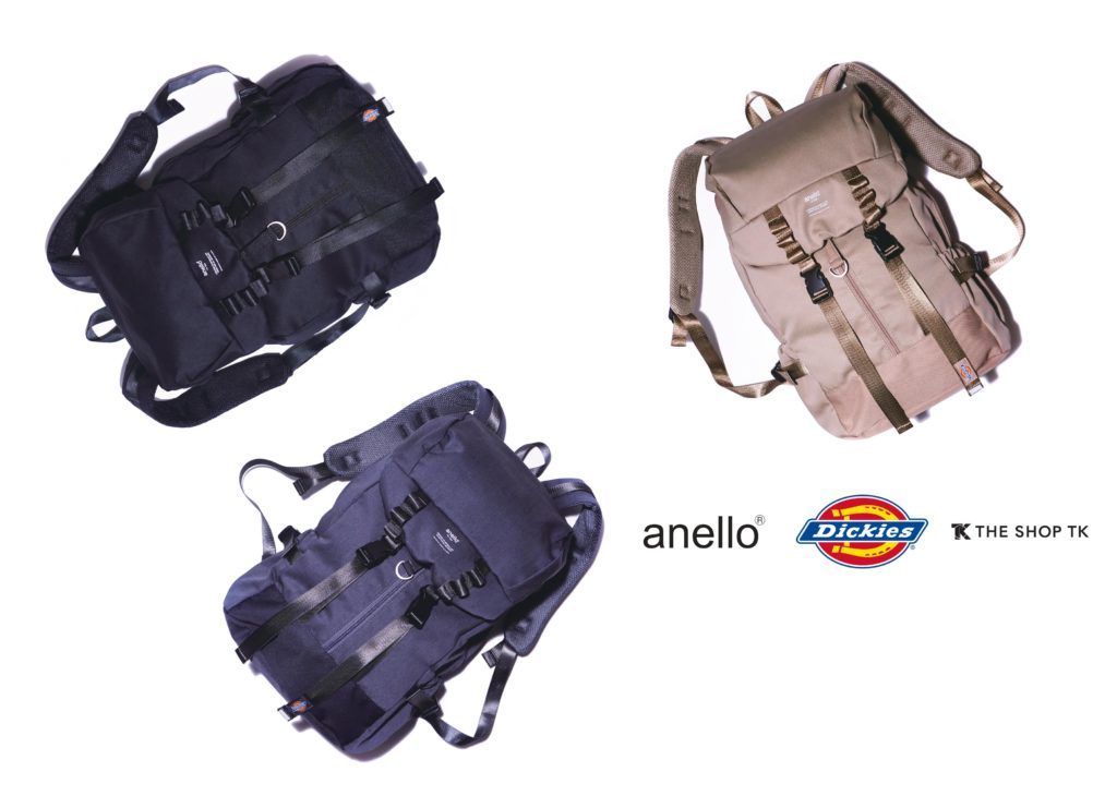 【Dickies×anello×THE SHOP TK】トリプルコラボアイテム発売!リュック、トートバッグ